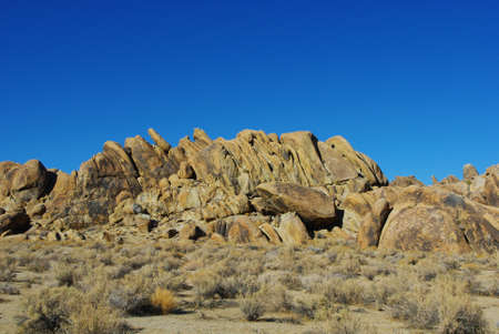 Bizarre rocks under blue sky