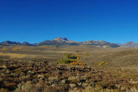 High mountain scenery in autumn