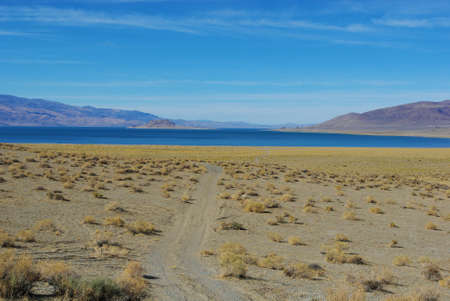 Sandy road to Pyramid Lake