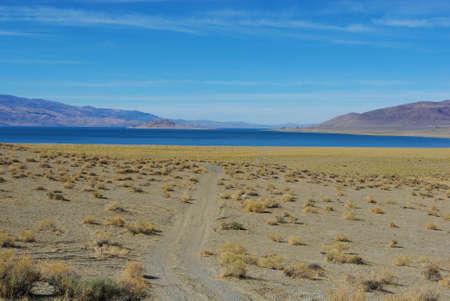 Sandy road to Pyramid Lake