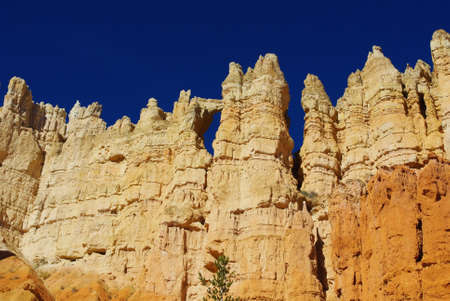 Hole in rock wall, Bryce