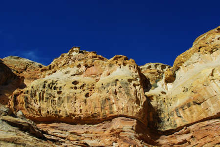 Capitol Reef rocks under blue sky