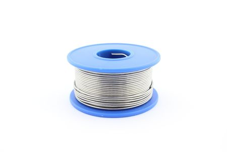 wire: Soldering wire Stock Photo