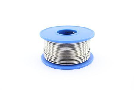 soldering: Soldering wire Stock Photo