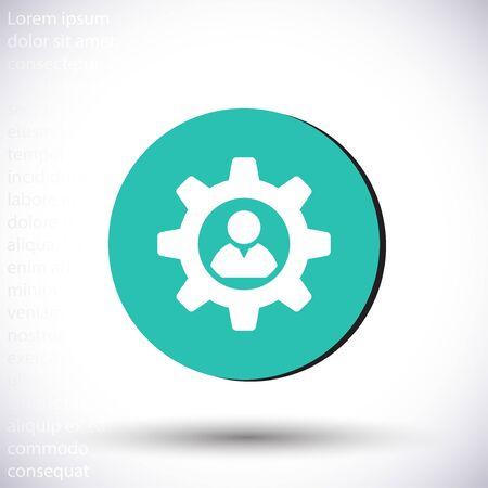 Icône vecteur design plat 10 eps illustration Vecteurs