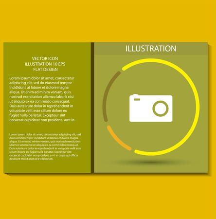 Vector icon design stile  Flat icon illustration Иллюстрация
