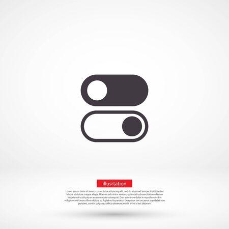 vector icon 10 eps design flat illustration Ilustración de vector