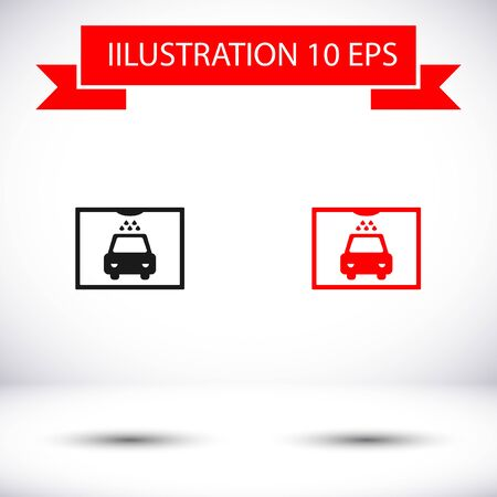 Car wash vector icon , lorem ipsum Flat design Illustration