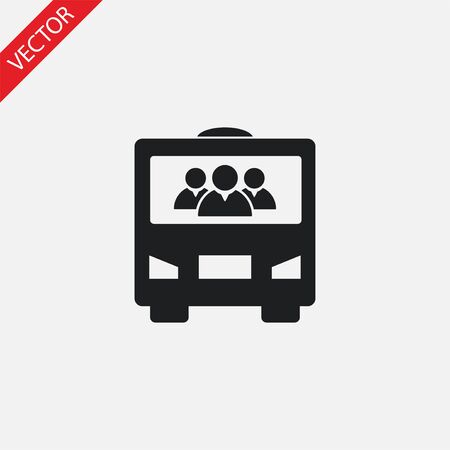 Red text vector icon design illustration