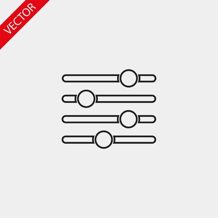 Red text vector icon 10 eps design illustration
