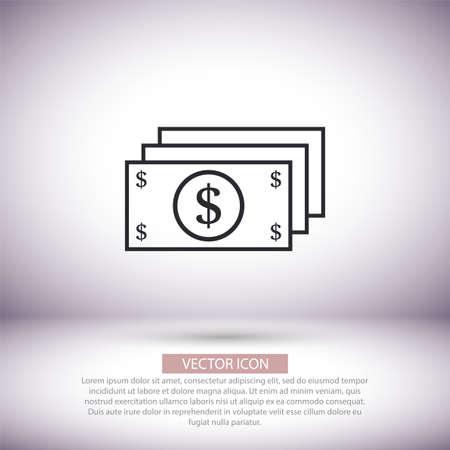 Dollar vector icon , lorem ipsum Flat design