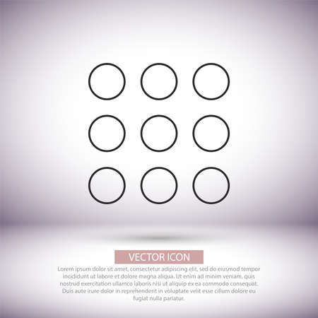 Keyboard vector icon , lorem ipsum Flat design