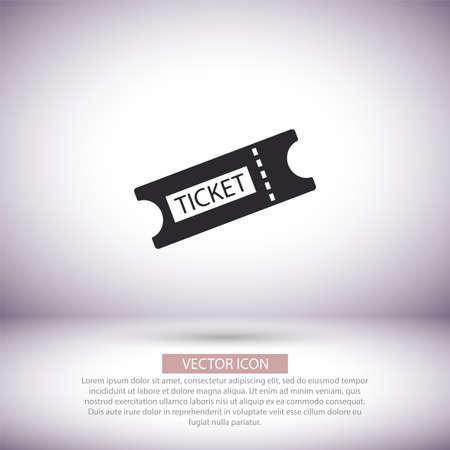 Ticket vector icon , lorem ipsum Flat design
