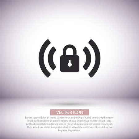 Wi fi password vector icon , lorem ipsum Flat design