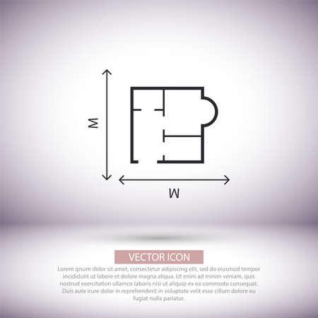 House size iconvector icon , lorem ipsum Flat design Çizim