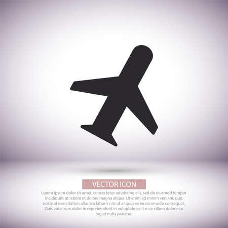 Aircraft vector icon , lorem ipsum Flat design Иллюстрация