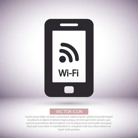 Telephone and Wi fi vector icon , lorem ipsum Flat design