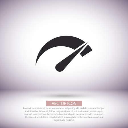 Speedometer vector icon , lorem ipsum Flat design