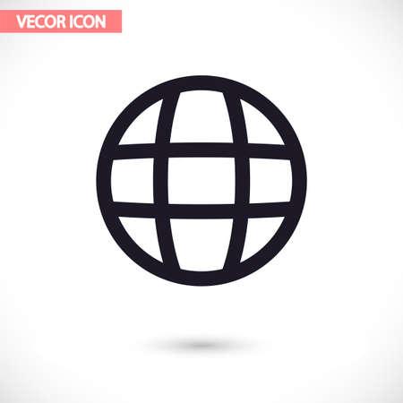 Planet vector icon , lorem ipsum Flat design