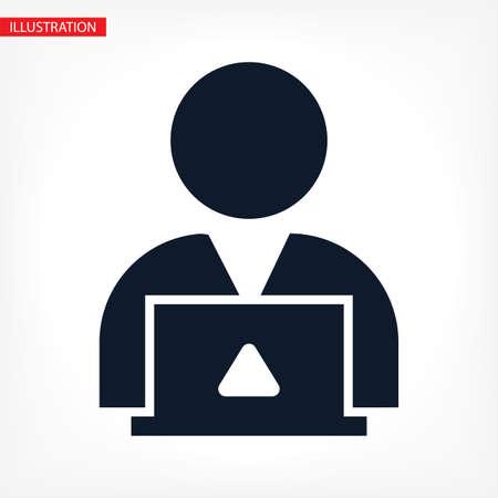 man laptop vector icon. lorem ipsum 10 EPS Design