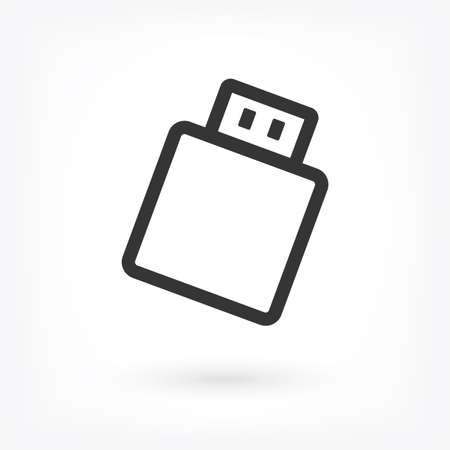 Usb Vector icon . Lorem Ipsum Illustration design