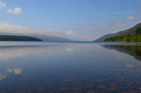loch ness: Loch Ness view Stock Photo
