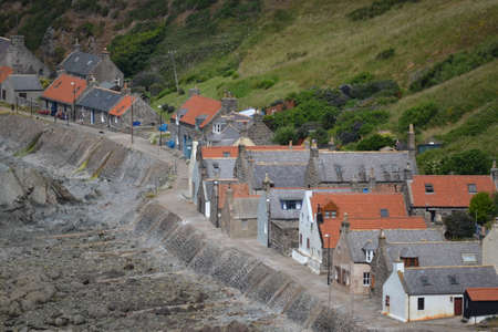 close knit: Crovie at low tide