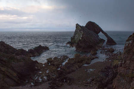 fiddle: Bow fiddle rock and Winter weather Stock Photo
