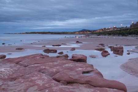 foreshore: Portgordon foreshore at low tide Stock Photo