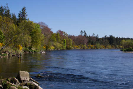 A winding section of the lower river Spey