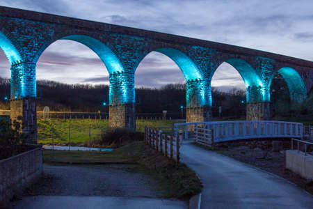 Viaduct in blue