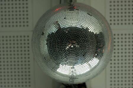 mirrorball: Disco ball on the wall Stock Photo