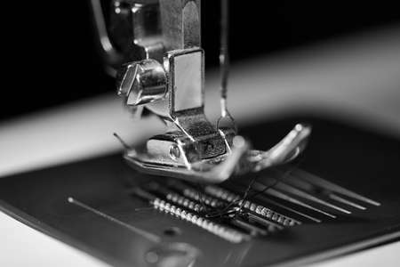 sewing foot in monocrome photo