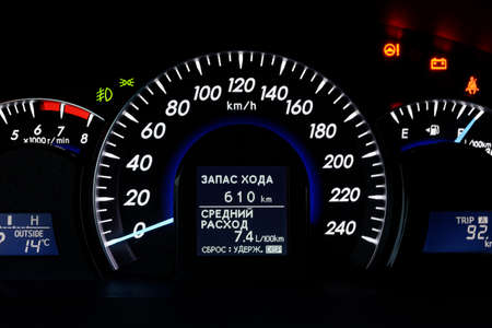 l petrol: Car speedometer
