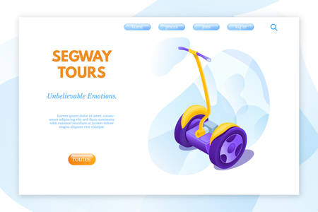 tours vector landing page template