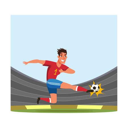 Soccer player flat vector illustration 向量圖像