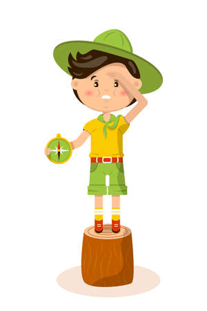 American boy scout vector illustration