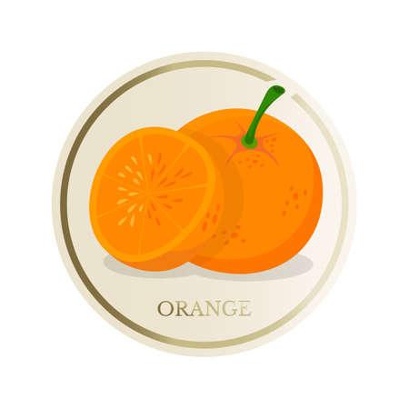 Orange flat circle sticker