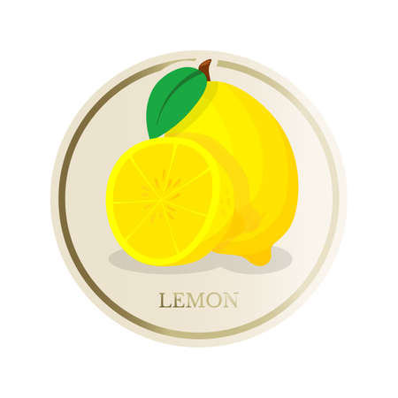 Lemon flat circle sticker