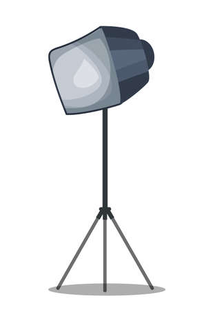 Softbox on tripod flat vector illustration Illusztráció