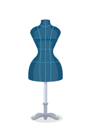 Sewing mannequin flat vector illustration