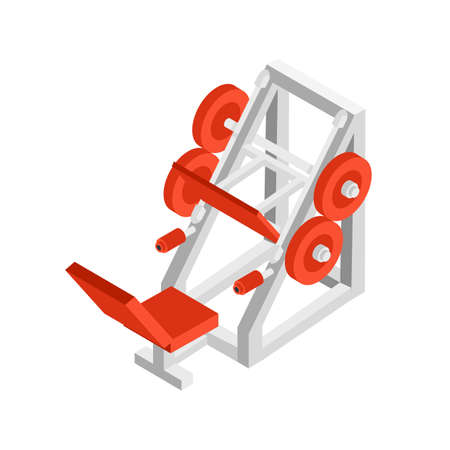 Weight lifting equipment isometric illustration Ilustrace
