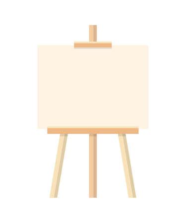 Cavalletto da pittura in bianco piatto illustrazione vettoriale