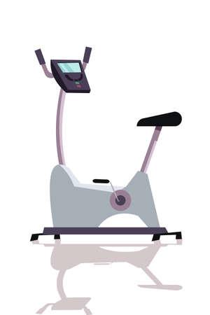 Stationary, exercise bike flat vector illustration 向量圖像