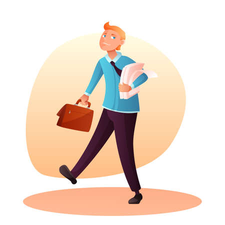 Businessman with briefcase vector illustration
