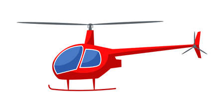 Helicopter flat vector illustration