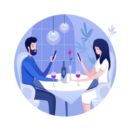 Relationship problem flat vector illustration