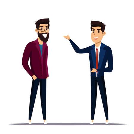 Businessmen flat vector characters