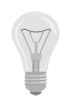 Incandescent lamp realistic vector illustration