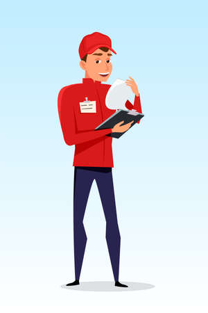 Delivery guy at work vector illustration